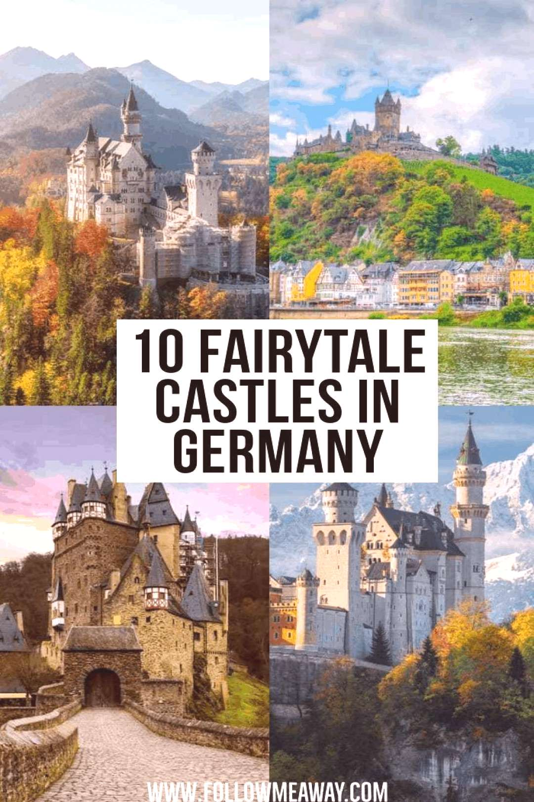 10 Fairytale Castles In Germany | where to go in Germany | beautiful locations in Germany | instagr