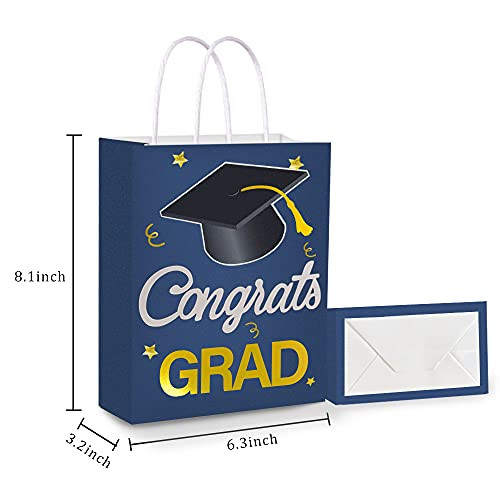 12 Pieces Graduation Gift Bags, Party Favor Bags with