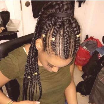 50 magic ideas for Ghana braids Gold beads and braided ponytail  trend