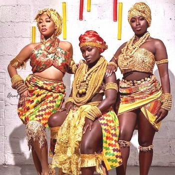 African Queens In Kente Cloth AmplifyAfrica . . . . | african style dresses ghana nigerian fashion