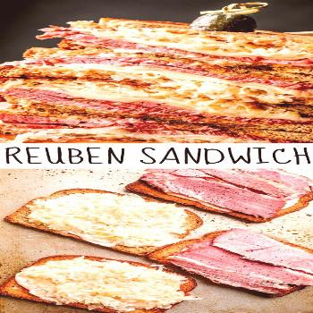 An Easy Reuben Sandwich with Homemade Russian Dressing An easy Reuben Sandwich with corned beef, ta