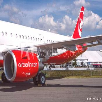 BERLIN, GERMANY - JUNE 03, 2016: Narrow-body jet airliner Airbus A321-211. Airberlin. Exhibition IL