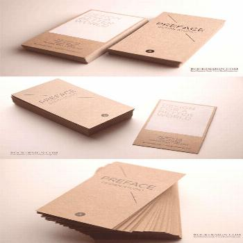 Eco Paper Business Card   < repinned by an agency from / -    Follow us on /Blickedeeler