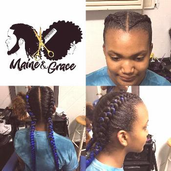 Feed in braids. Book under 1-5 Feed in/Ghana Braids. Small braids can be added. ... -