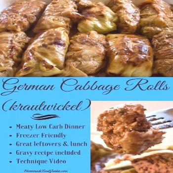 German Cabbage Rolls Recipe (krautwickel)