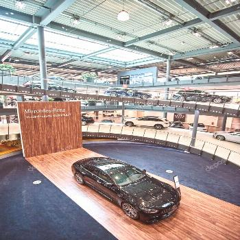 Germany, Dusseldorf July 17, 2019: The new modern Mercedes-Benz - Stock P ,