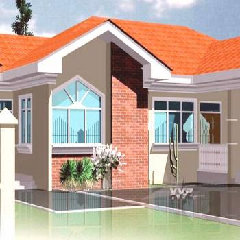 Ghana Floor Plans - 4 Bedrooms and 3 Bathrooms for All African Countries  -