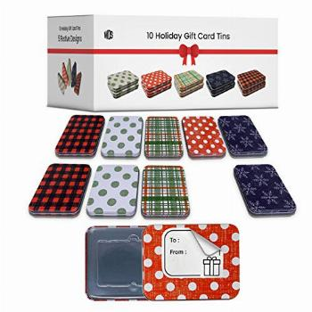 Gift Card Holder Christmas Tins - 10 Rustic Holders for Gift