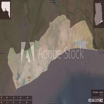Greater Accra, Ghana - composition. Satellite ,