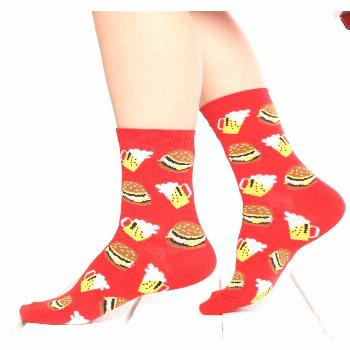 Hamburger and Bear Sock  With Passion Be Stylish, Be Fancy, Be Different, Be Cool with The Unisocks