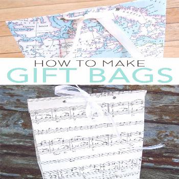 Learn how to make gift bags with this easy tutorial! A DIY paper bag is an easy way to gift a gift