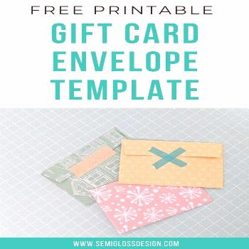 Make your own gift card holder with this printable template. It's so easy to make a gift card look