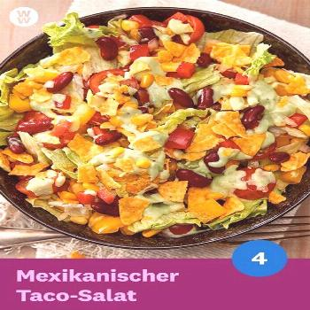 Mexican Taco Salad with Avocado Dressing Recipe WW Germany Mexican Taco Salad with Avocado Dressing