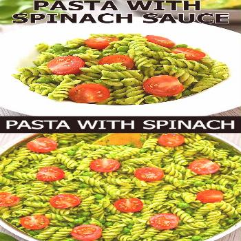 Pasta with Spinach Sauce This healthy Pasta with Spinach Sauce is a super easy weeknight meal that