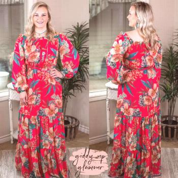 Pink Floral Off the Shoulder Maxi – Giddy Up Glamour Boutique  Best Picture For  Summer Dress kid