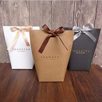 SHHS 9 pcs Thank You Gift Wrap Boxes Packing Bags