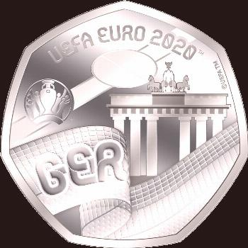 The official commemorative coins for the UEFA EURO 2020 ™ - Start: