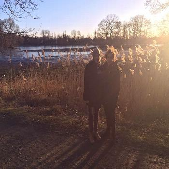 Throwback to a winter walk with my lovely  was probably warmer that day than it is rig... -