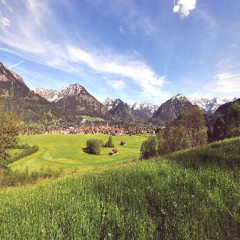 Willkommen-in-germany: Oberstdorf in Bayern, Southern Germany is a skiing and hikin... -