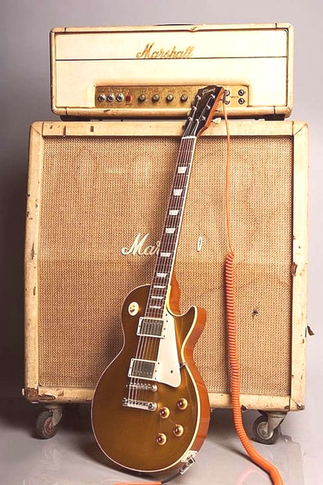 A Gibson guitar and a Marshall amp......its like peanut butter and jelly.