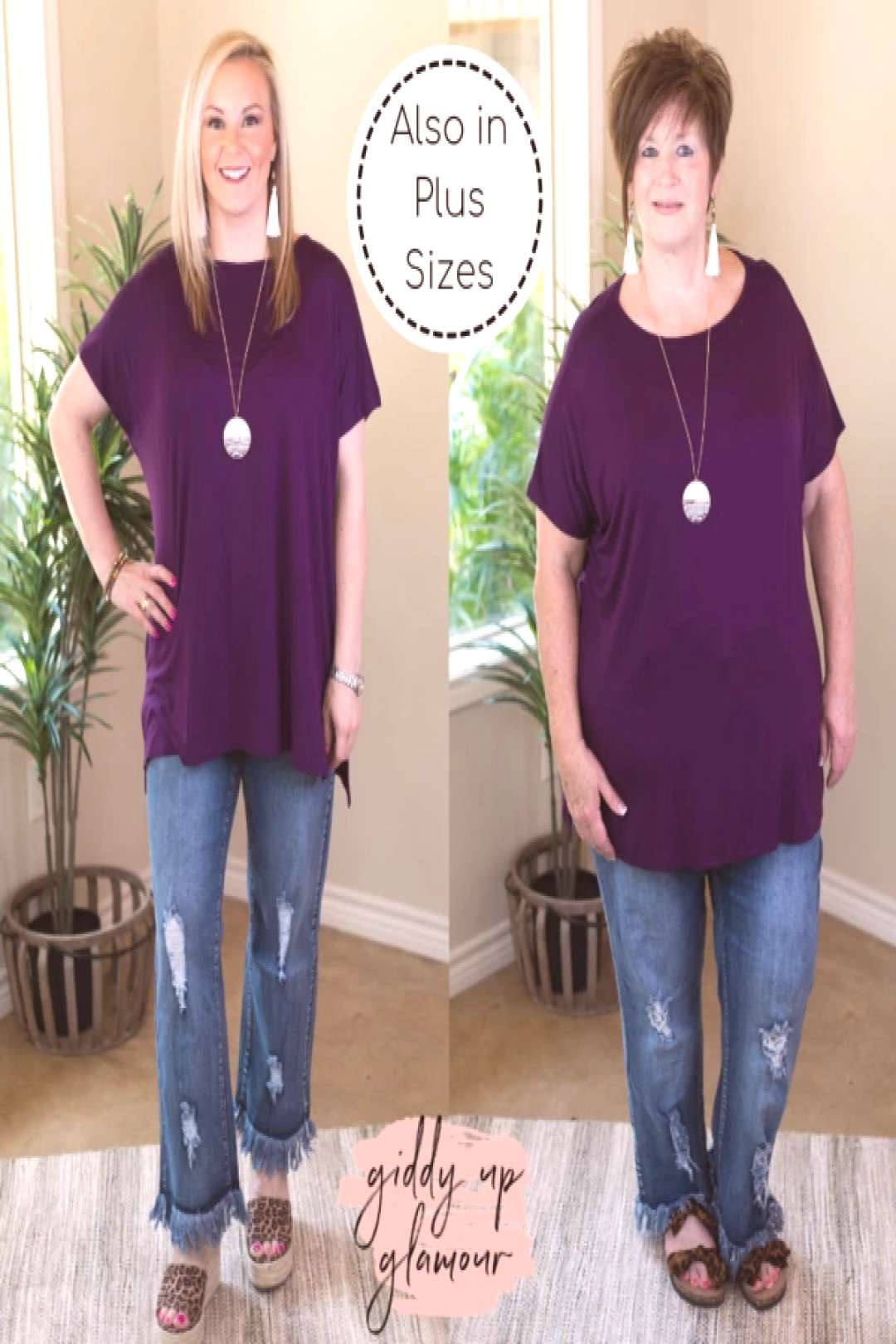 Everyday Basics Drop Sleeve Solid Piko Top in Purple – Giddy Up Glamour Boutique