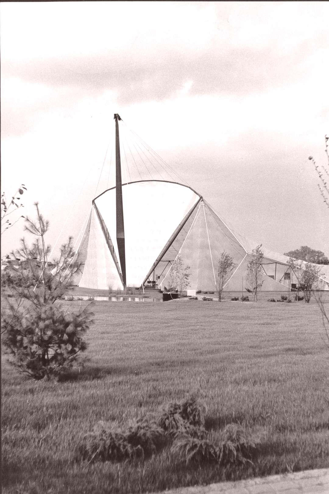 Exhibition Tent (1962) in Wesseling, Germany, by Erich Schelling -