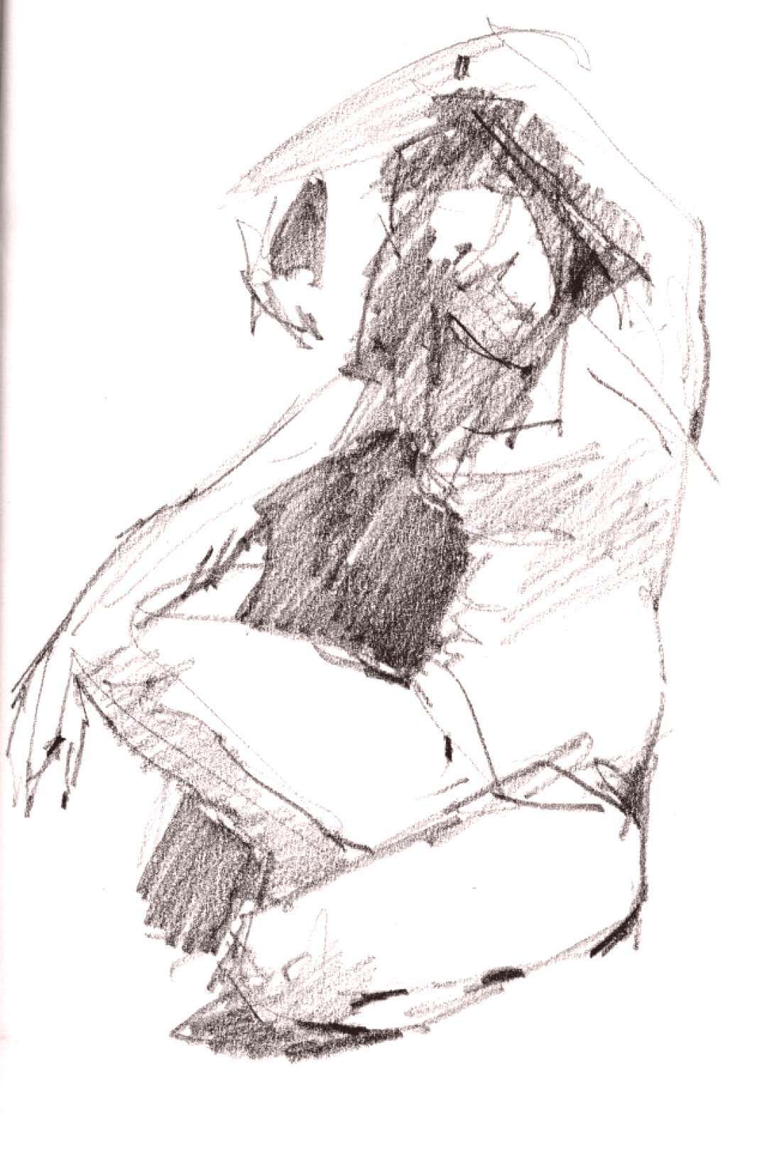 Figure Gesture Drawing | Live model, four minute pose artist's recipe for excitement or ...