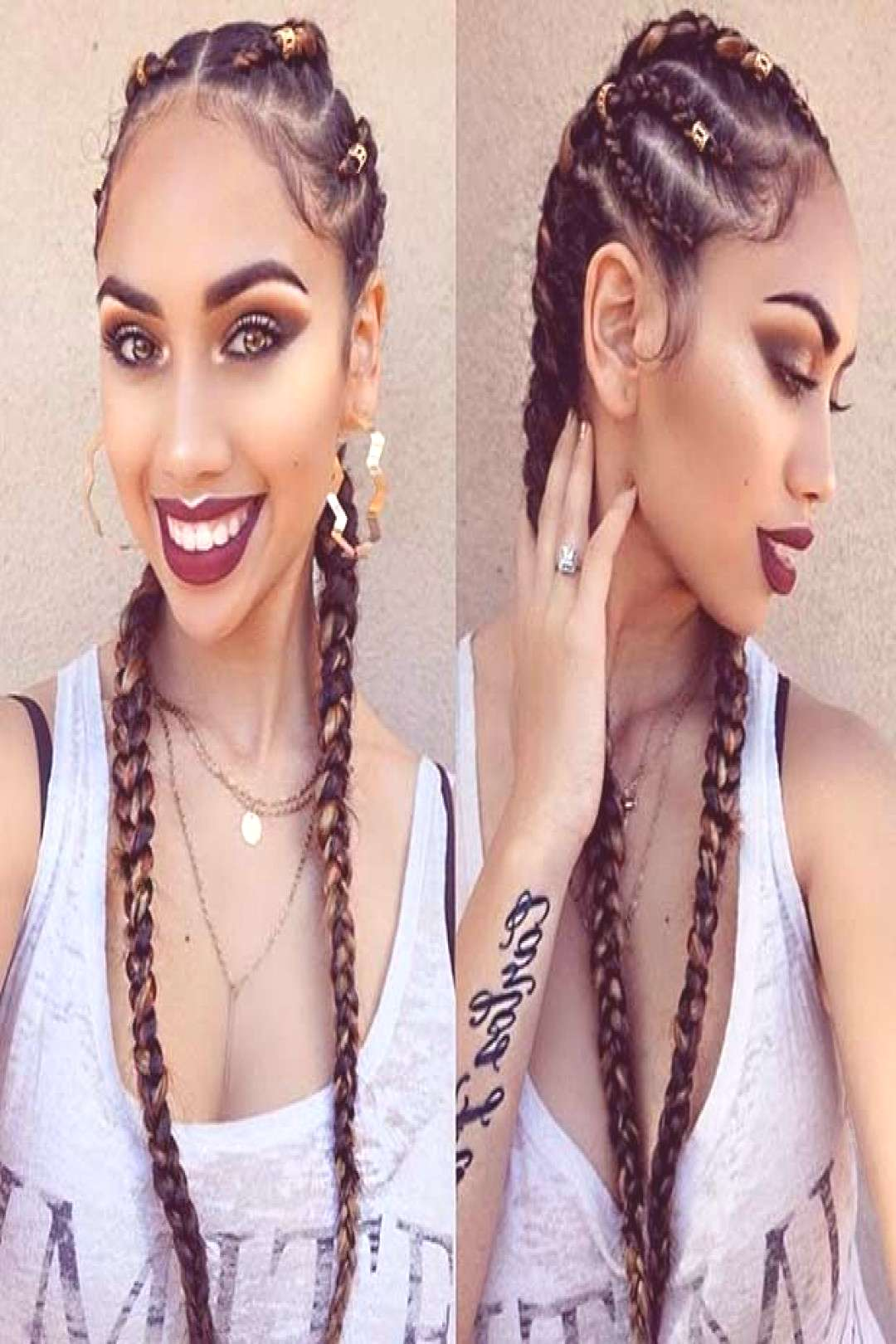 Ghana Braids in Different Lengths and Sizes