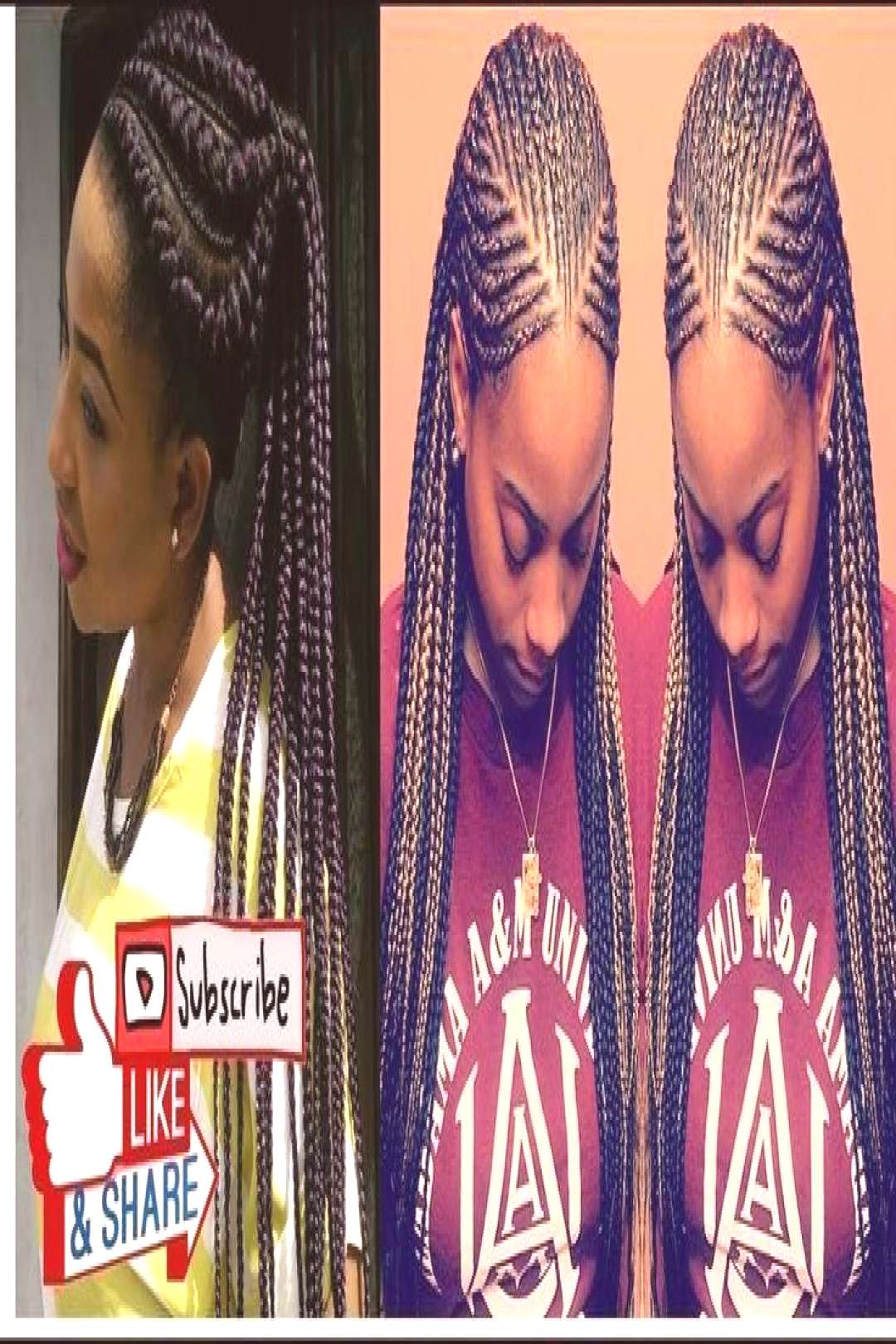 ghana Braids with bangs 31 Best Protective Ghana Braids Hairstyles To Rock With Best latest ghana