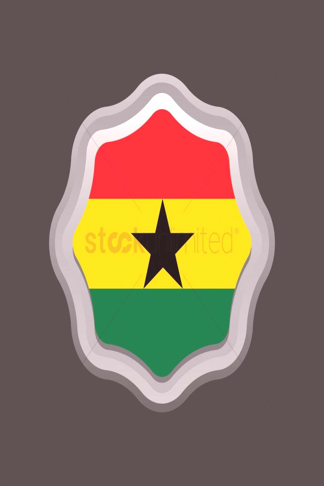 Ghana flag badge vectors, stock clipart ,