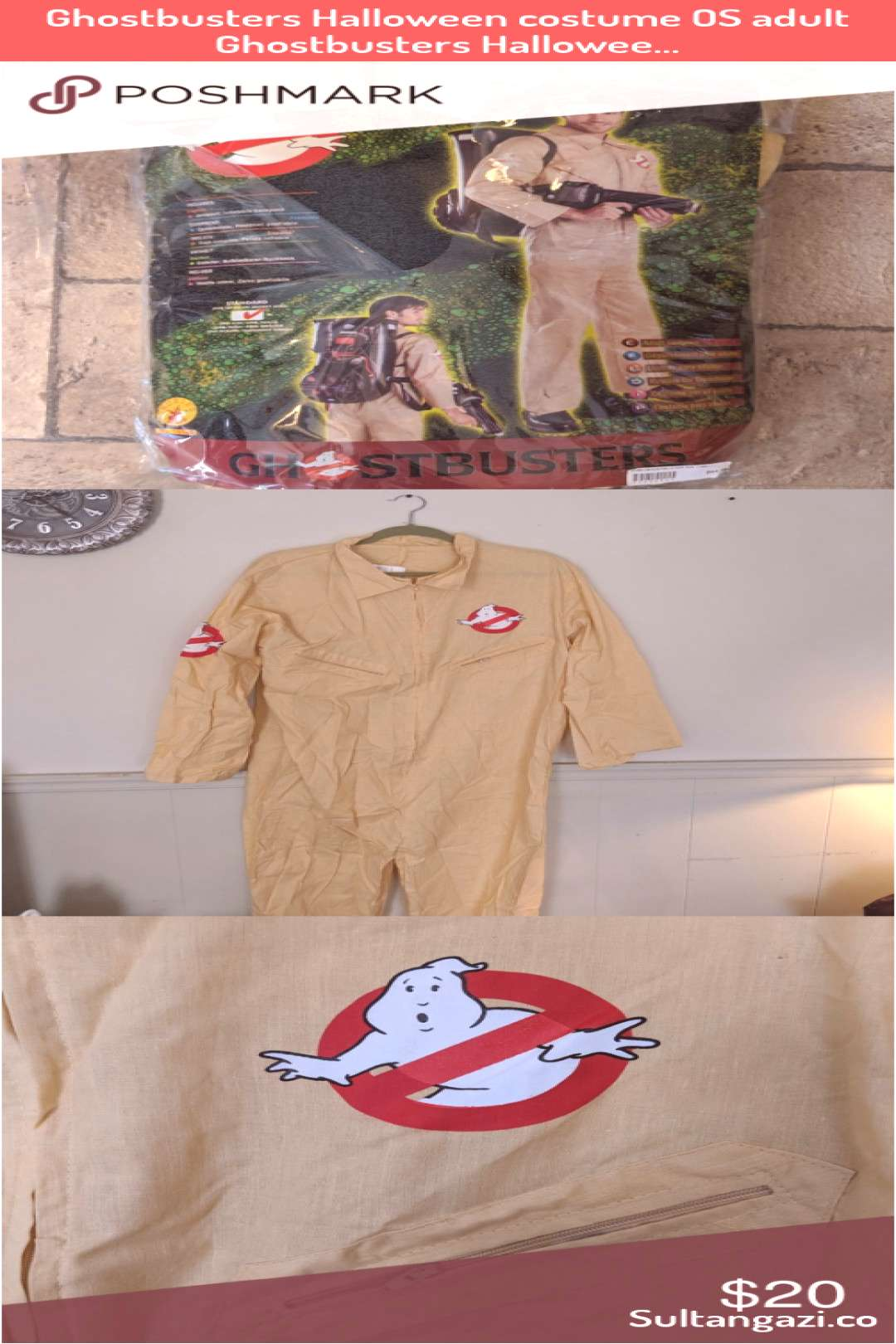 Ghostbusters Halloween costume OS adult Ghostbusters Hallowee  Ghostbusters Halloween costume OS