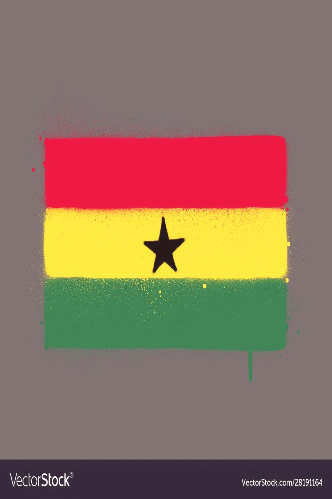 Graffti ghana flag sprayed over grey Royalty Free Vector ,