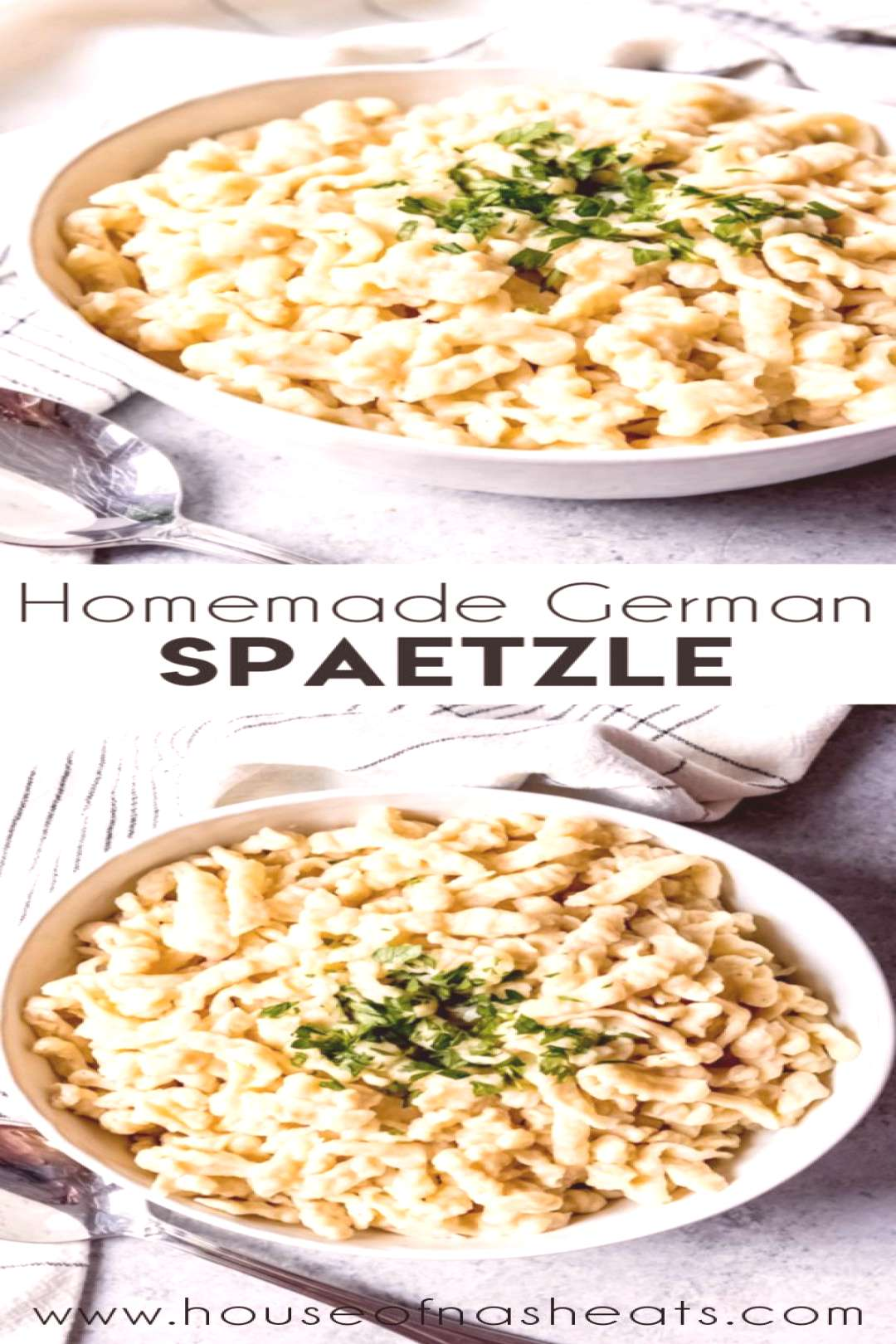 Homemade German Spaetzle are part noodle, part dumpling, and they go with practically anything! Sau