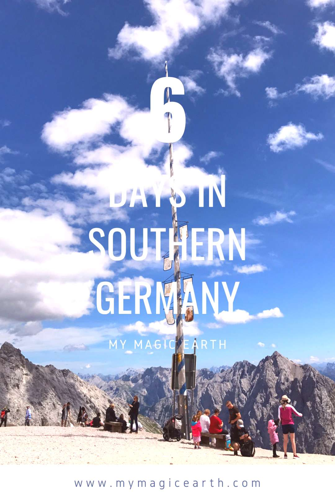 Itinerary for southern Germany The 6-day itinerary for southern Germany includes such as the highe