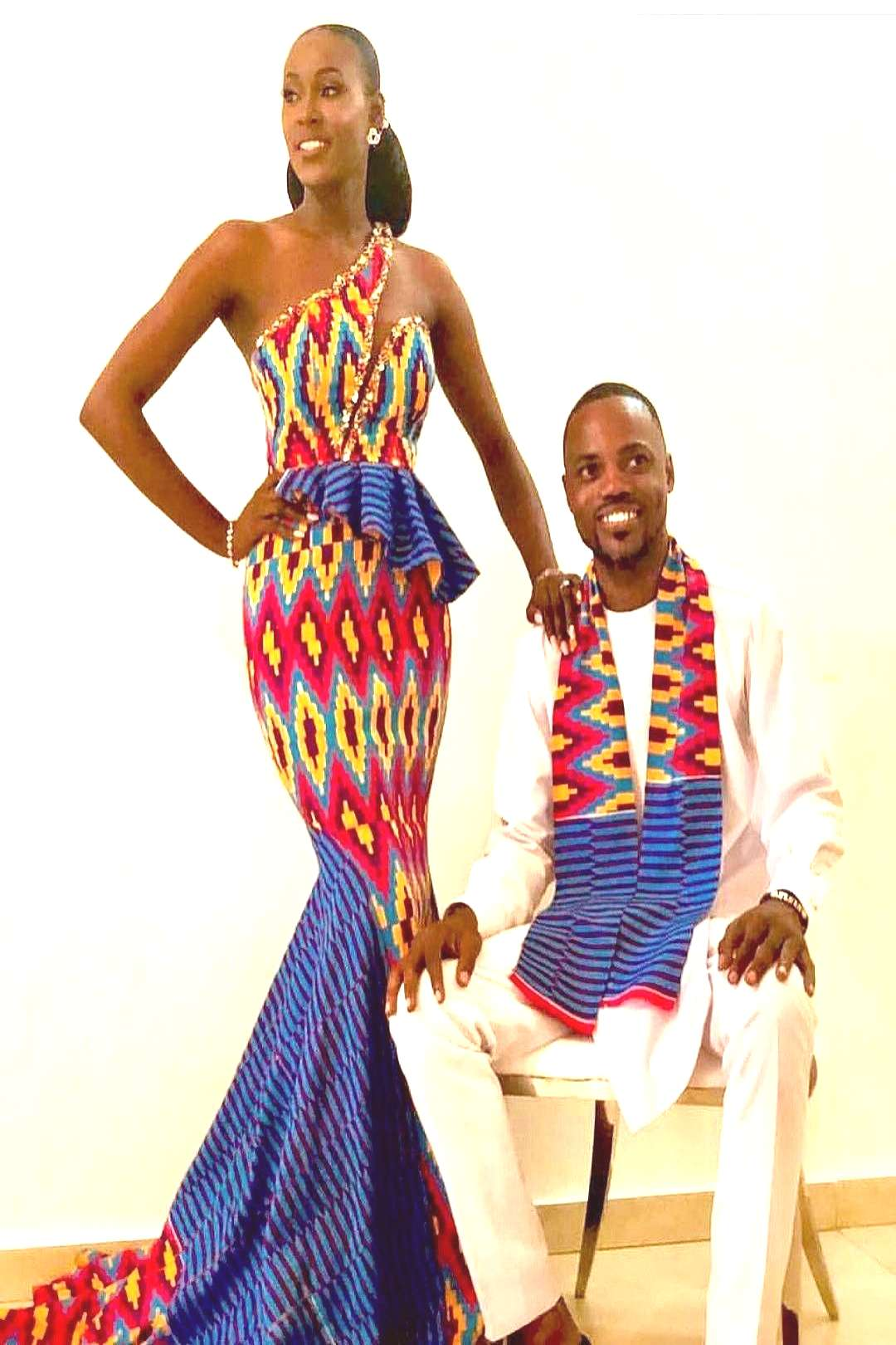 Latest Ankara statement outfits for couples Braids africaines mariage
