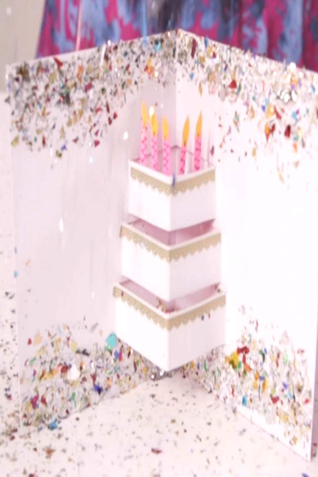 Make a DIY Pop-Out Birthday Card Show someone how much you care with a festive handmade birthday ca
