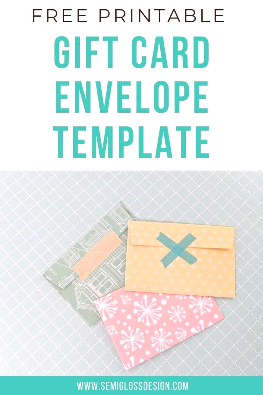 Make your own gift card holder with this printable template. Its so easy to make a gift card look