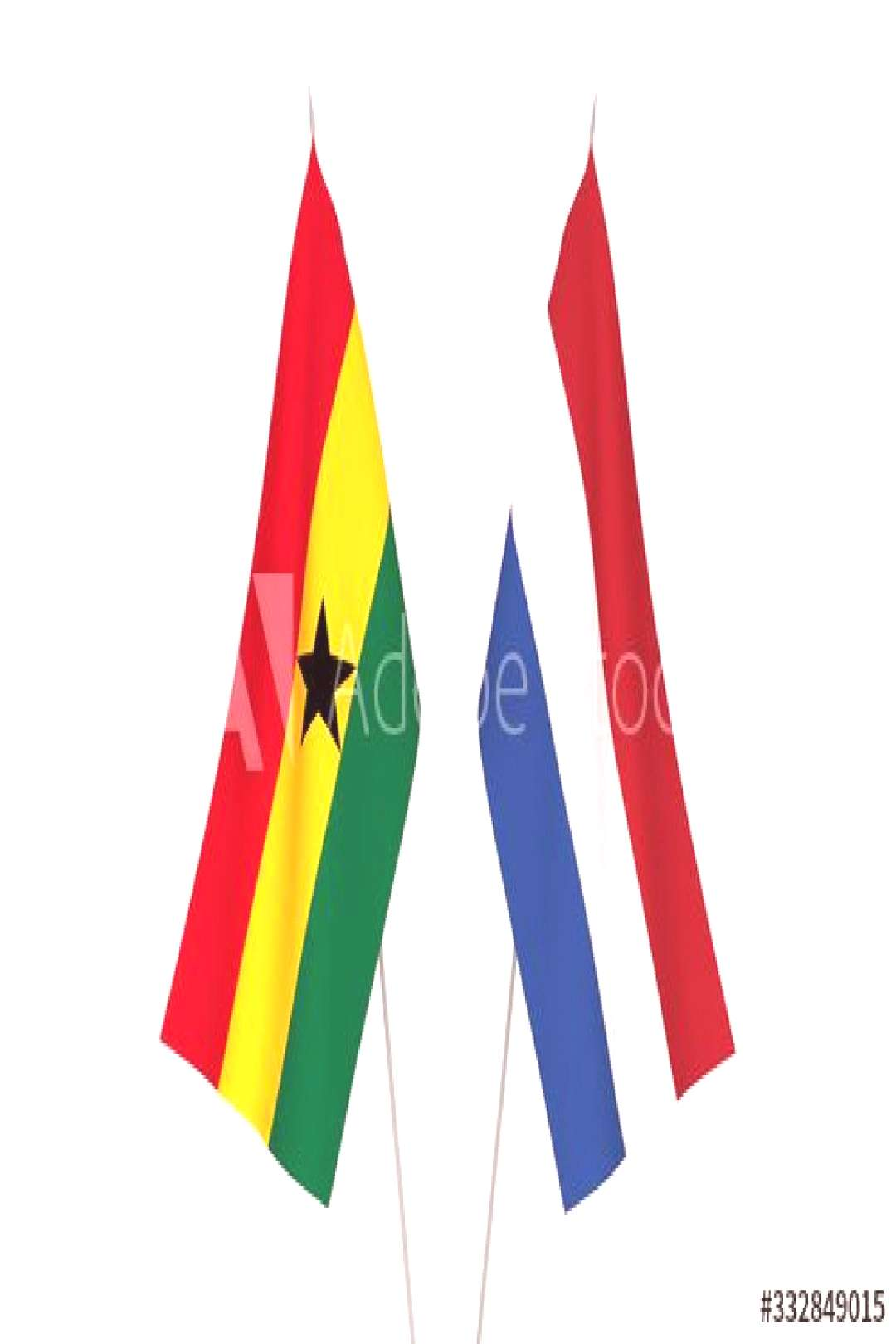 Netherlands and Ghana flags ,