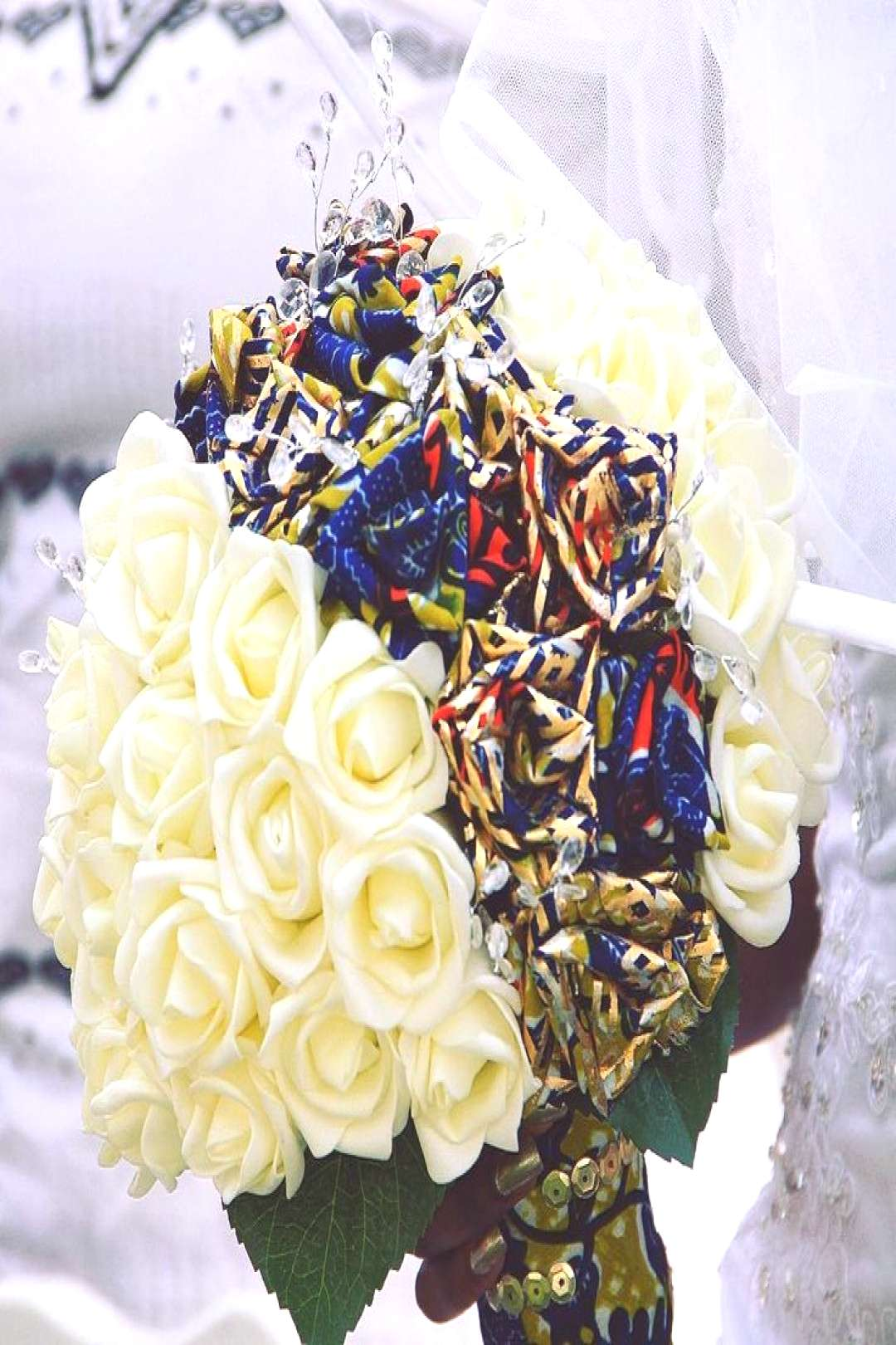PLANNING A WEDDING / ENGAGEMENT IN GHANA - ADEDE My ever loving ankara brides bouquet! This was han