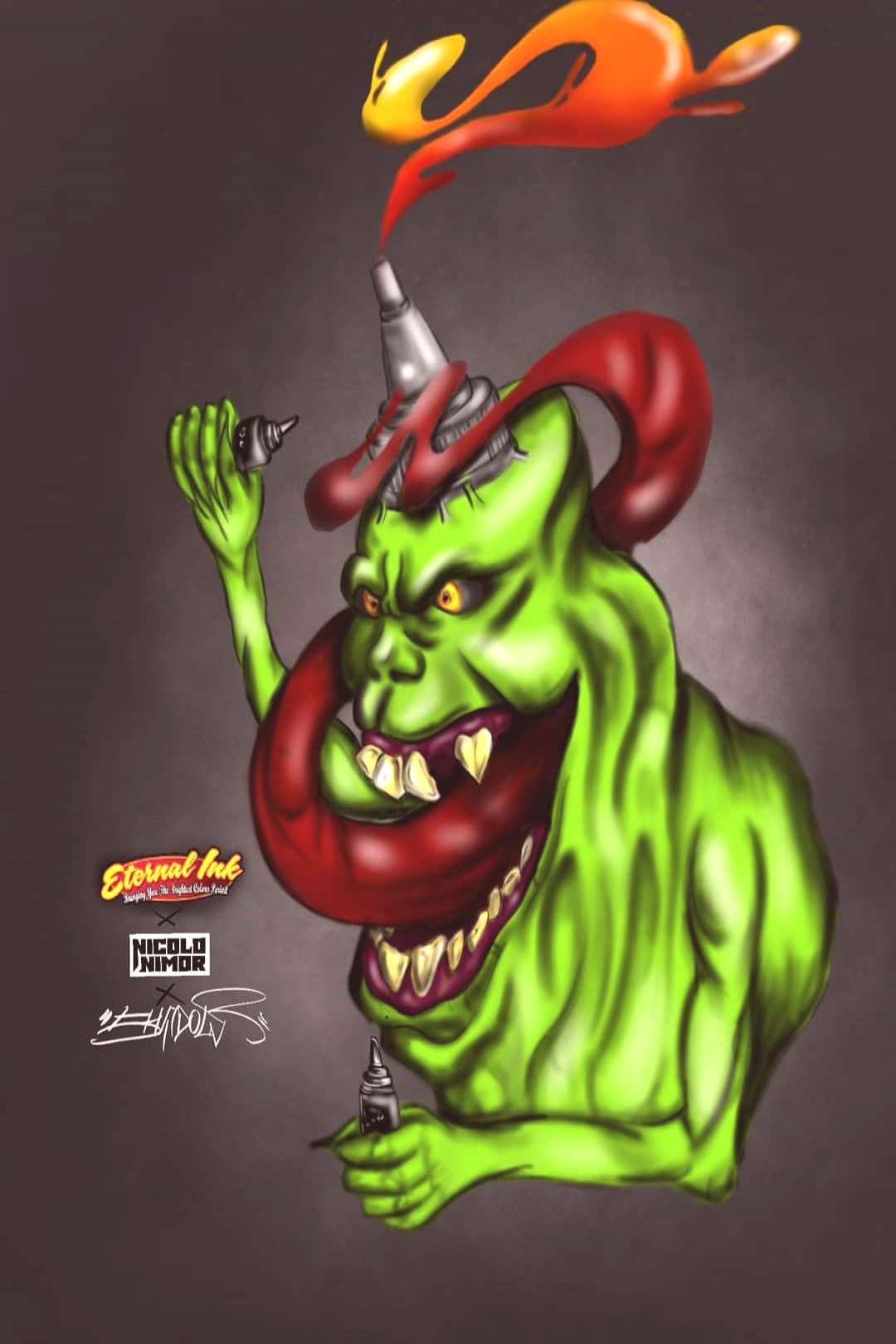 Slimer ink. Thanks @eternalink @nicolonimor for this amazing contest.??
