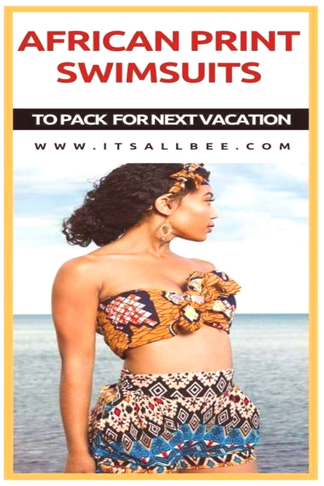 Stunning Kente print swimsuits amp African Print Swimwear For Your Next Beach Vacation | ItsAllBee St