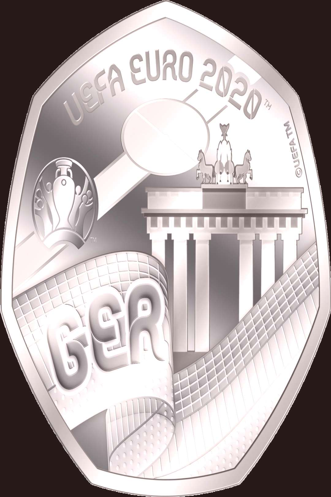 The official commemorative coins for the UEFA EURO 2020 ™ - Start quotGermanyquot a... - The official