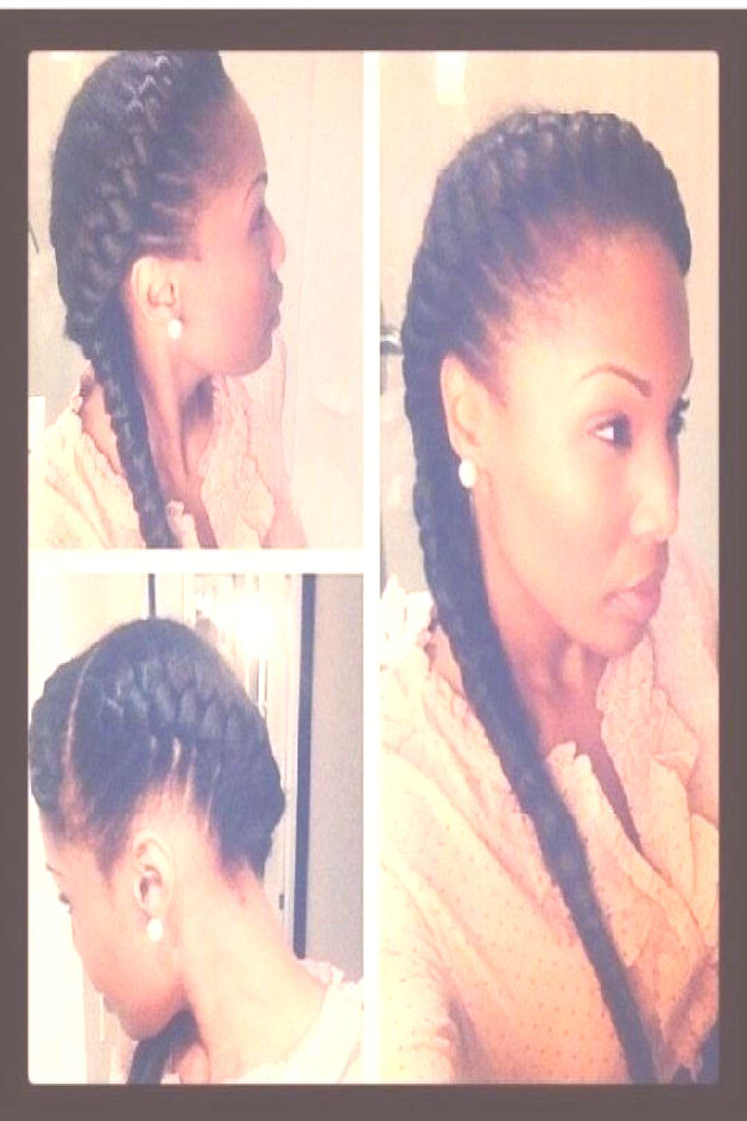 top 37 Best 2 Goddess Braids To The Side In 2020 40+ Totally Gorgeous Ghana Braids Hairstyles...#br