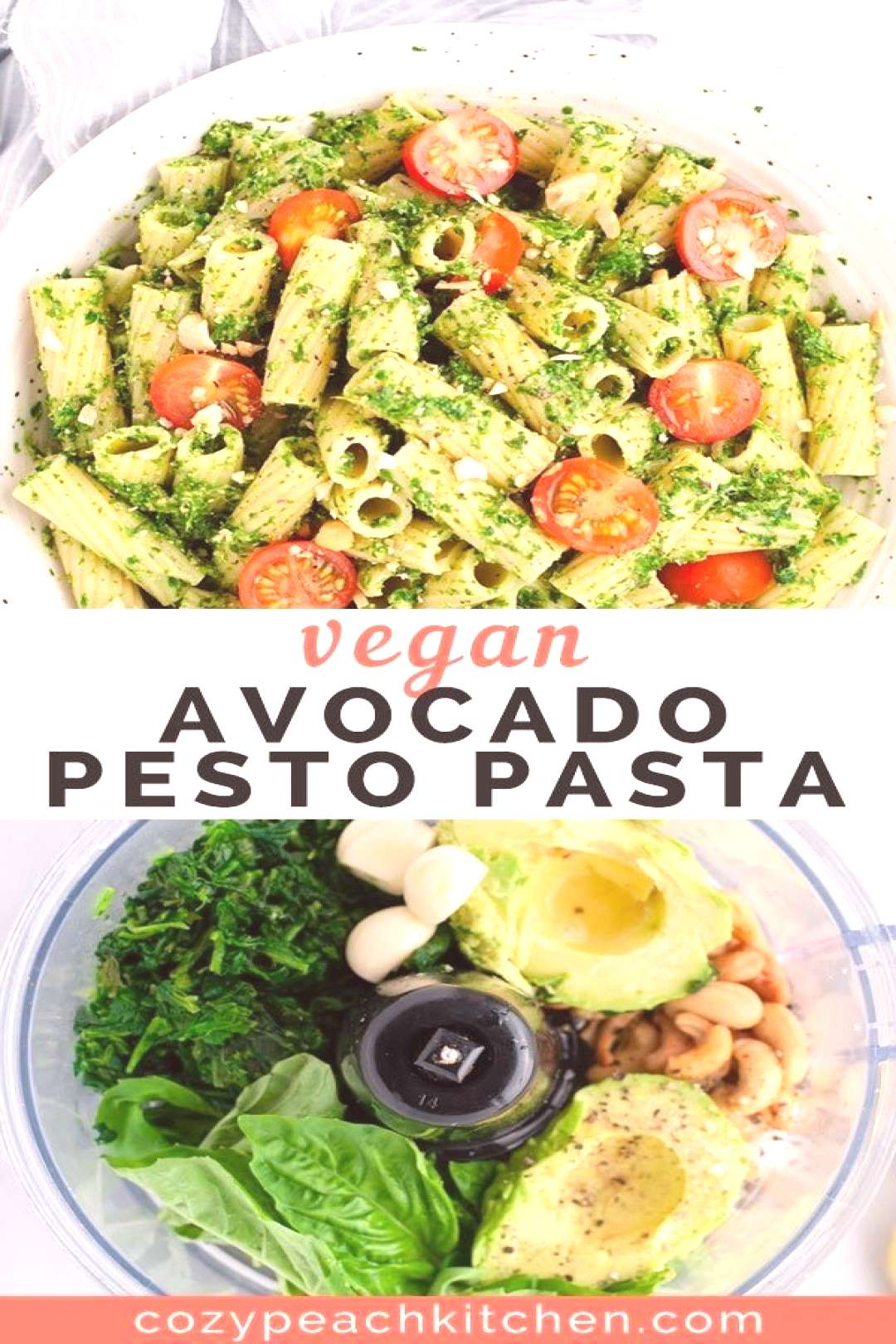 Vegan avocado pesto pasta is a quick and easy way to get in your greens. Made in less than 15 minut