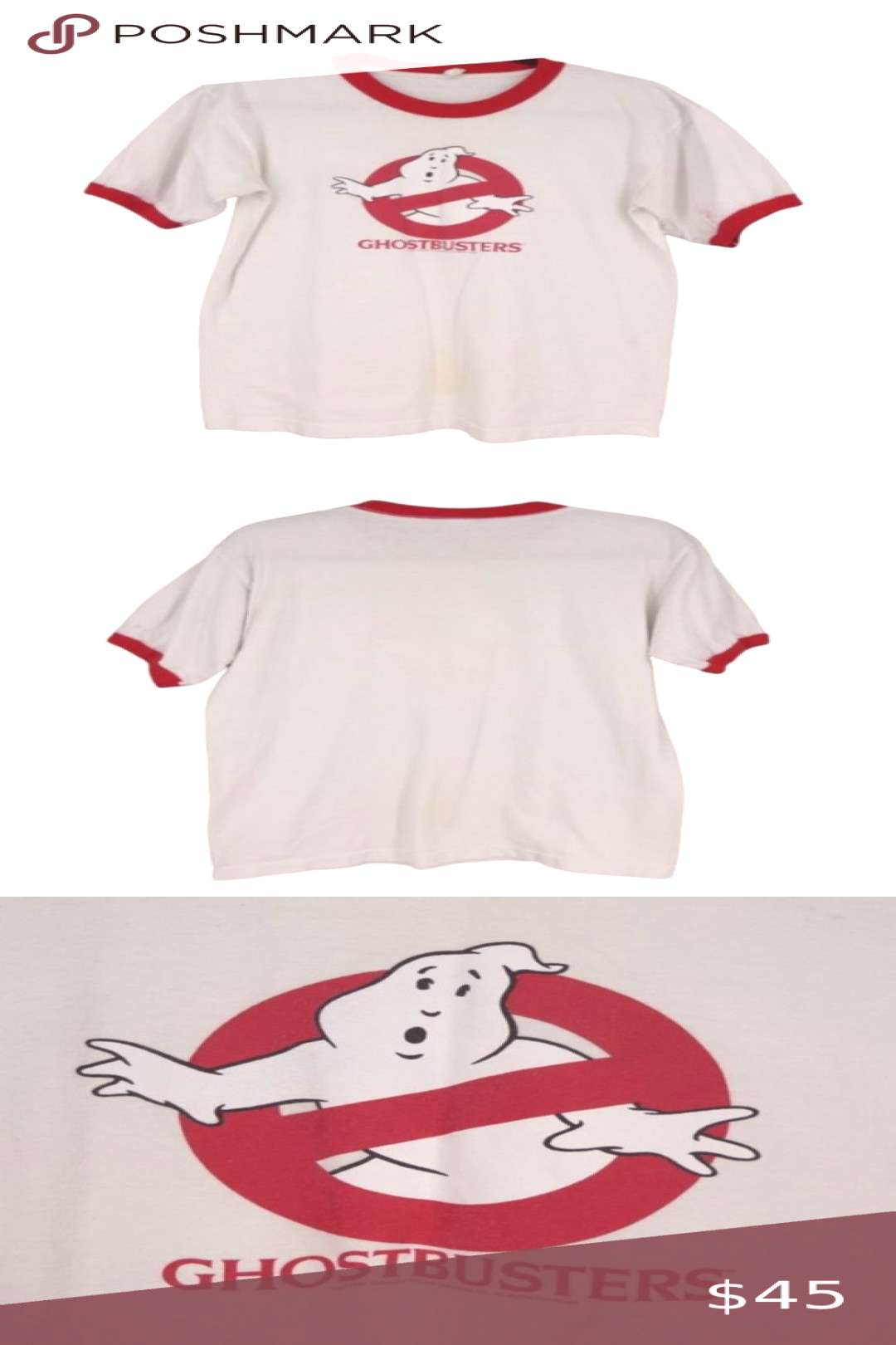 Vintage Ghostbusters Movie 1984 Ringer T-Shirt Vintage Ringer T-Shirt Mens Mediu...#ghostbusters