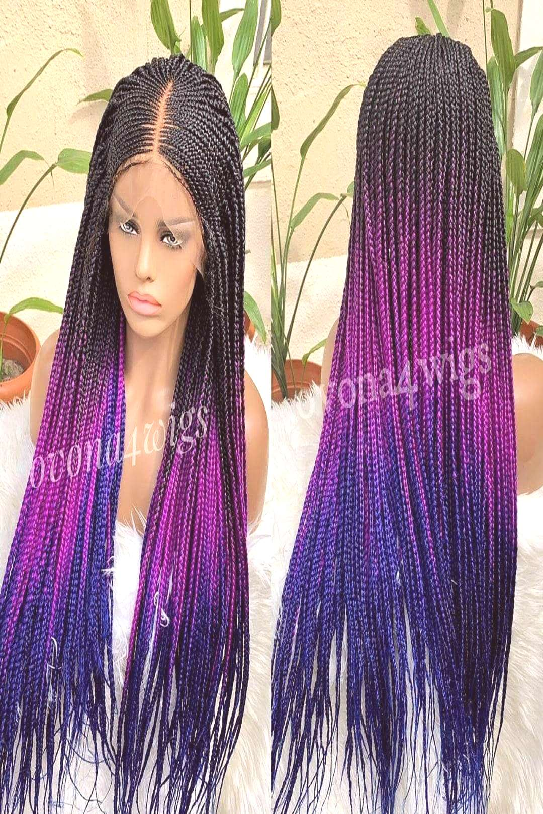 will you like to rock this 3tone ombre braided wig from @Ovona4wigs ? . Sales is still ongoing do