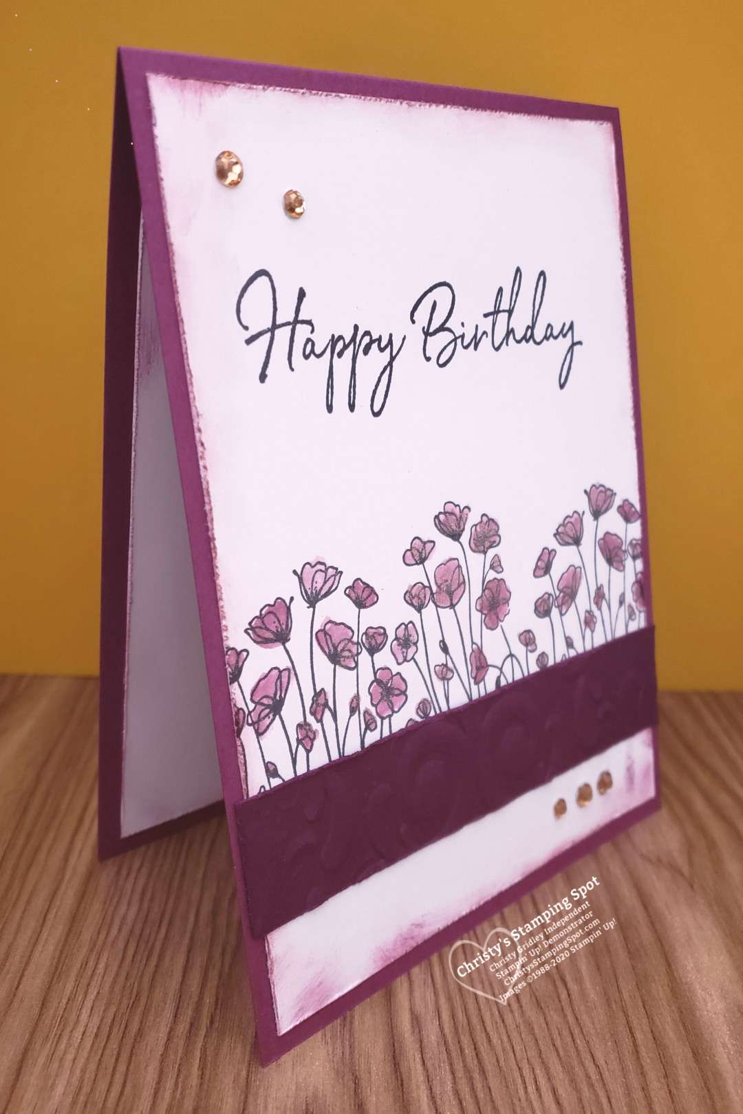 Winked Birthday Painted Poppies Card Stampin Up! Painted Poppies Stempelset, Happy Birthday To You
